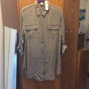 Gray Denim Shirt